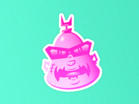 Krang human body Sticker