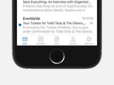 New icon kit for Outlook iOS bobby 25x25 native bar nav app mail ios kit icons