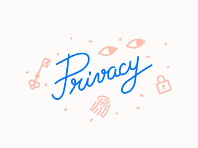 Privacy page illustration illustration key custom type eyes lock privacy