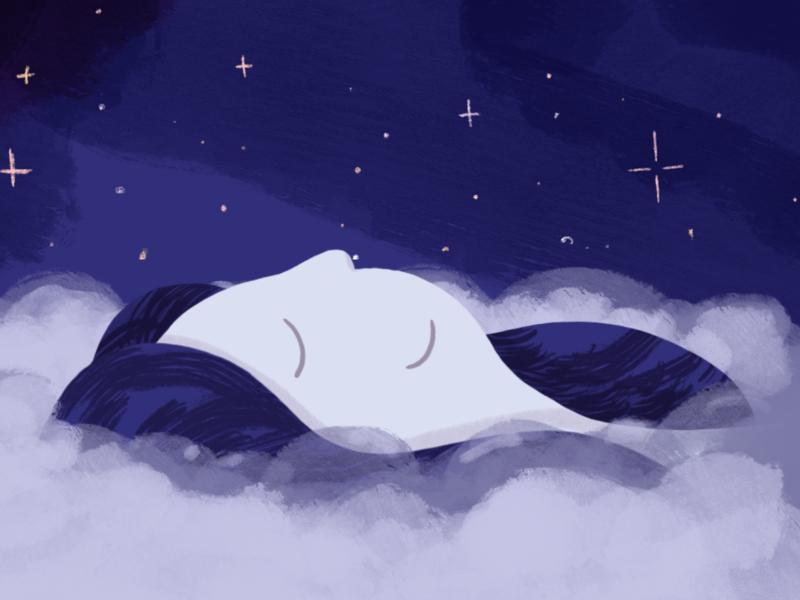 Illustrations for Jour faces cloud logo dream starts sleep face illustration