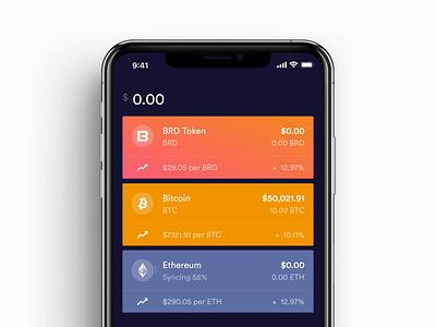 Crypto Wallet cryptocurrency coinbase breadwallet ios app apple finance fintech ux uiux ui app crypto wallet crypto