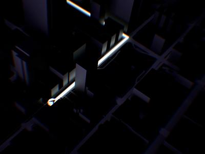 3D City animation cinema 4d c4d cinema4d 3d