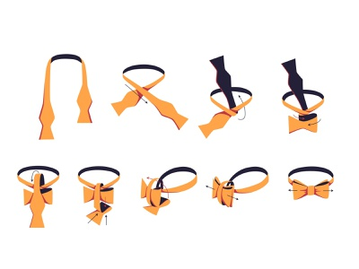 How to tie a tie d2c fashion illustrator adobe illustrator instructions how to tie bowtie illustration