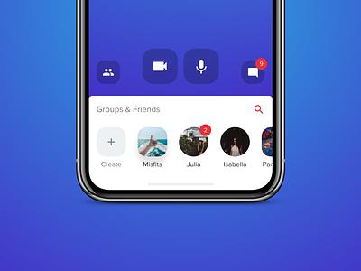 Groups iphone ios apple ui  ux design ui app