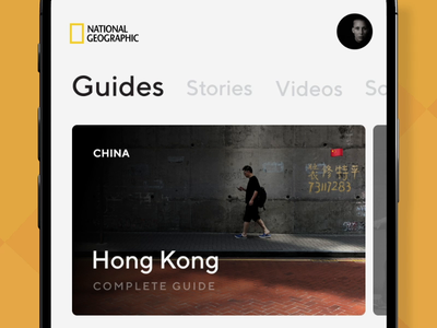 Nat Geo - Travel guides, stories, and videos video ae ui  ux design animation ui  ux photography national geographic news editorial guides travel ui app