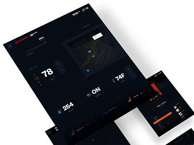 Fisker media dashboard dash car concept video ae ux app ui animation
