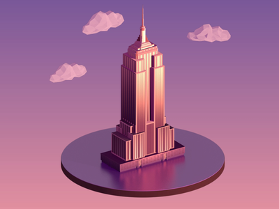 City Kit animation c4d cinema cinema4d empire state building empire state nyc new york city 3d cities
