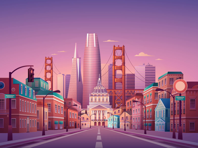 Hello, San Fransisco illustrator after effects san francisco illustration video ae animation