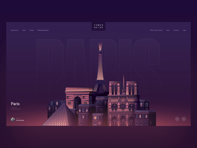 Tower Guides cities buildings website travel app travel city london paris illustration after effects video ae ui animation