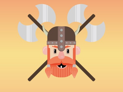 Viking fun viking llustration flat