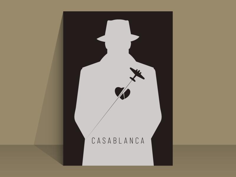 casablanca minimal film poster ingrid bergman humphrey bogart casablanca graphic design film poster film minimal minimalist illustration vector design
