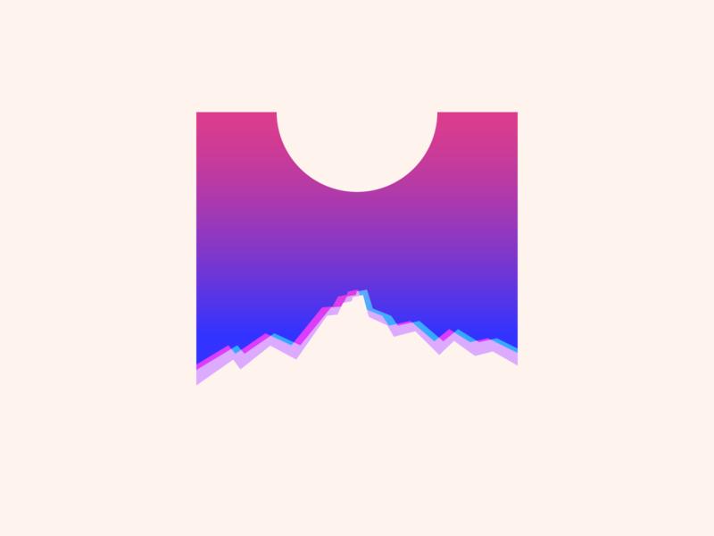 random56 - mist mountains vector art experiments minimal inspiration graphic geometric abstract minimalist illustration vector design