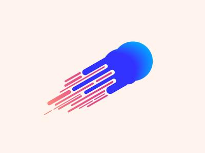 random70 comet space cosmos comet vector art experiments minimal inspiration graphic geometric abstract minimalist illustration vector design