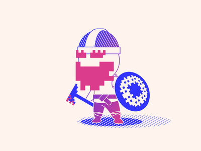 random100 pixel viking character pixel viking gradients random vector art experiments minimal inspiration graphic geometric minimalist illustration vector design