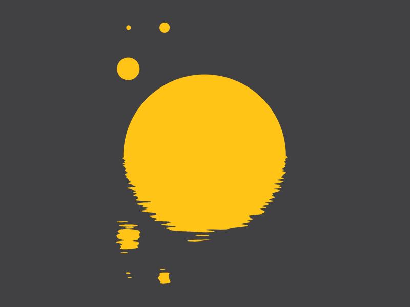 #Typehue Week 15: O typehue week 15: o simple flat minimal yellow sun solar planet planets o typography typehue