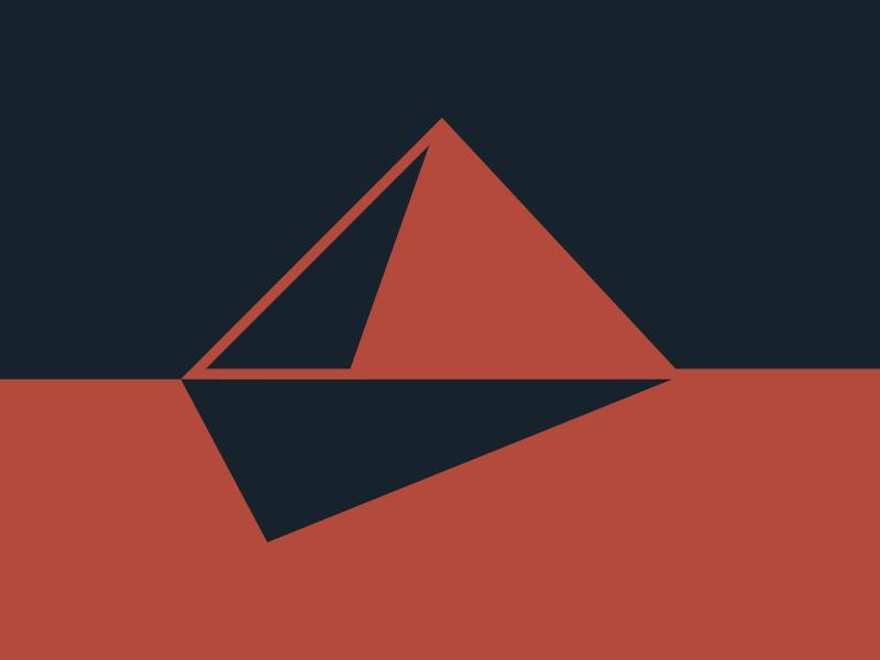 #Typehue Week 16: P typehue week 16: p typography typehue red pyramid p minimal logo flat black