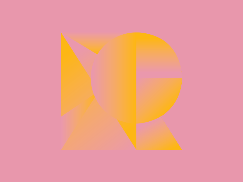 #Typehue Week 18: R typehue week 18: r colorful type typography typehue logo r minimal pink yellow gradient flat