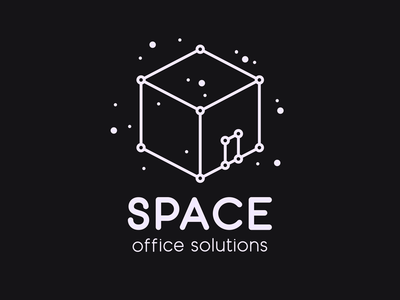 Space – Office Solutions thirtylogos stars office space graphic logo logo design design challenge