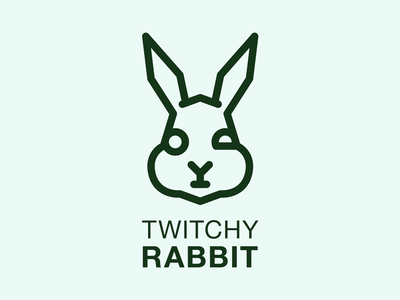 Twitchy Rabbit twitchy crazy graphic vector icon rabbit thirtylogos