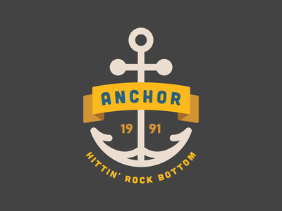 Anchor graphic boat badass colors clothing traditional tattoo minimal flat rock bottom ship ocean logo anchor