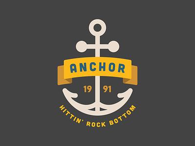 Anchor graphic boat badass colors clothing traditional tattoo minimal flat rock bottom ship ocean logo anchor