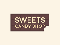 Sweets candy bar chocolate vegan candy graphic branding logo