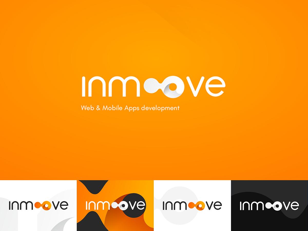 Logo Inmoove rounded move inmoove orange modern logo identidad marca logotype logotipo gradient rebranding identity brand logo branding