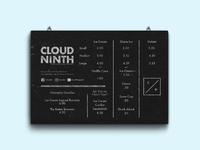 Cloud 9th Chalkboard WIP