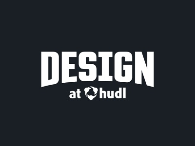 Design at Hudl Logo logotype wordmark lockup design chapter chapter team team logo design team logo hudl design
