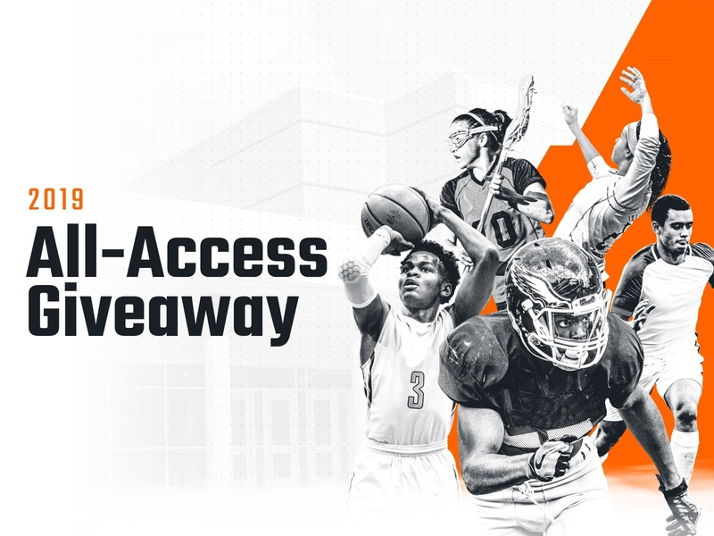 All-Access Giveaway sweepstakes marketing sports athletes campaign design web giveaway hudl