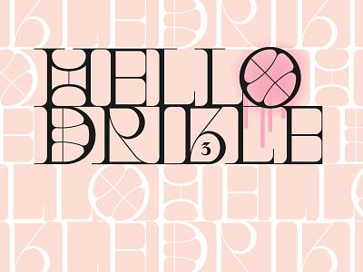 Hello dribbble! pink identity didone didot vector illustration serif font serif hello dribbble lettering type logo flat branding design typography