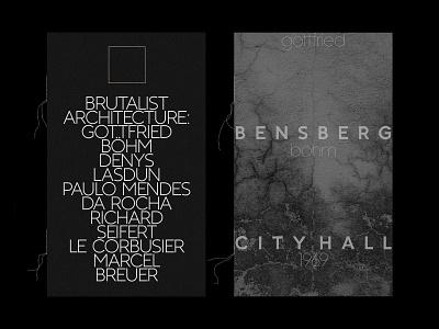 Brutalist Architecture brochure brutalism editorial typography typeface typedesign type trend sans-serif serif sans print logo lettering graphicdesign geometric fontdesign font design aesthetic
