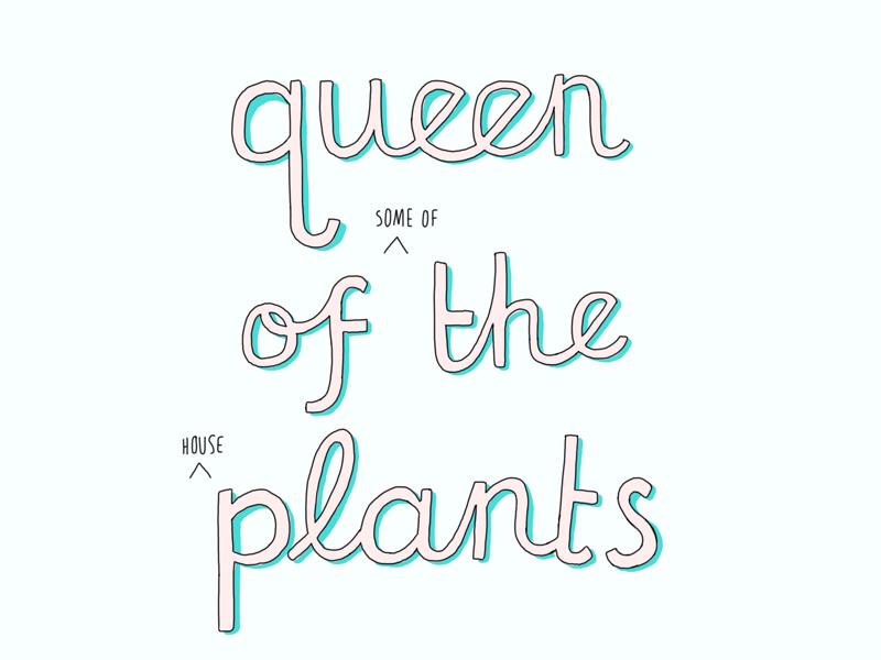Queen of the Plants green queen plants illustration