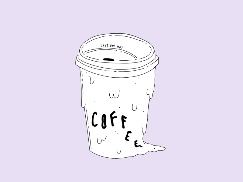 ❗️Hot Coffee❗️ purple hot coffee illustration