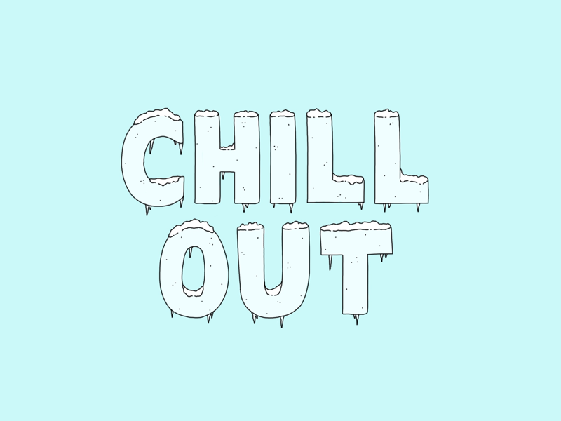 Chill Out chill out blue chill illustration