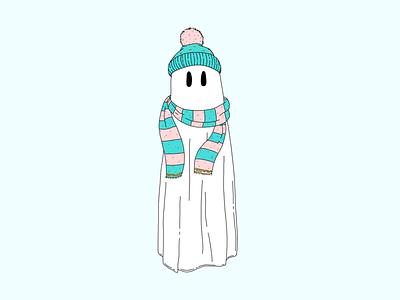 Always Cold blue december ghost winter cold illustration