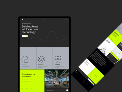 Blockchain website geometric design dark blockchain ui clean minimal simple website web grid layout typography design