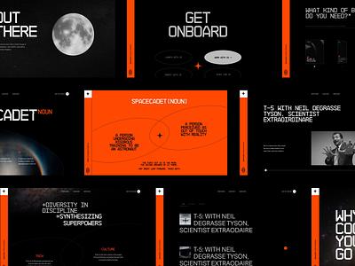 Space Cadet Ventures Webiste dark motion graphics space branding layout design website