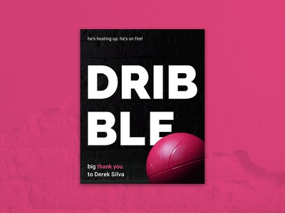 Hello Dribbble! nba jam photography poster design graphic design thank you first shot debut