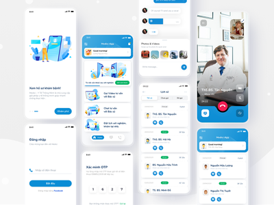Medici - Medical Mobile App freebie free xd mobile app video call doctor medical