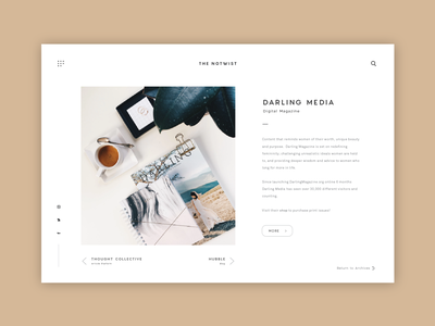The Notwist - UI Design simple user interface product design digital news platform article platform ui design ux ui user interface design