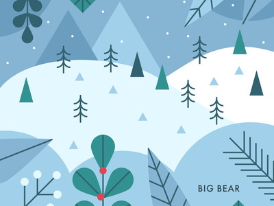 Big Bear winter snowday vector illustrator design visual design branding illustration