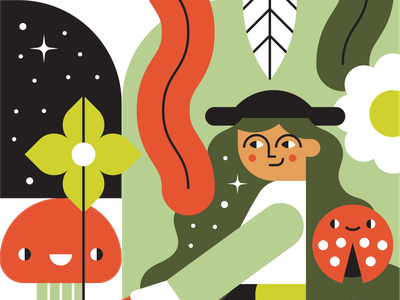 Forest Forager character design identity branding web character illustration vector visual design design illustrator