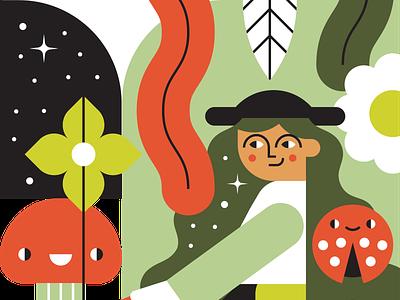 Forest Forager character design identity branding web character illustration vector visual design design illustrator