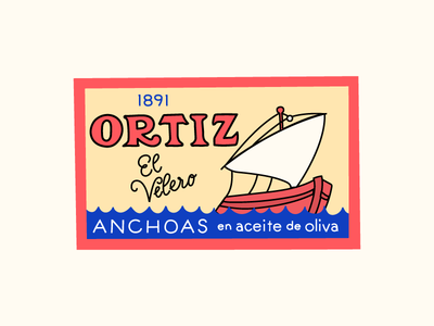 One piece from my 100 Day Project branding illustration packaging anchovies 100dayproject typography handdrawn