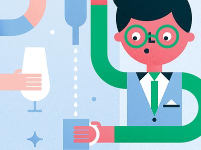LA Downtowner bar booze illo graphic character visual design ui texture illustration dtla los angeles