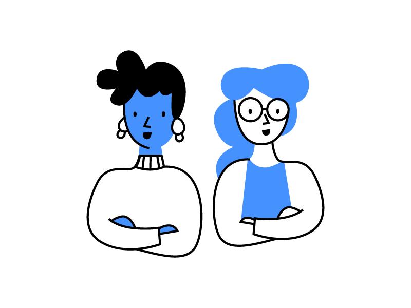 Peeps visual design ui product app branding illustration design character identity illustration identity