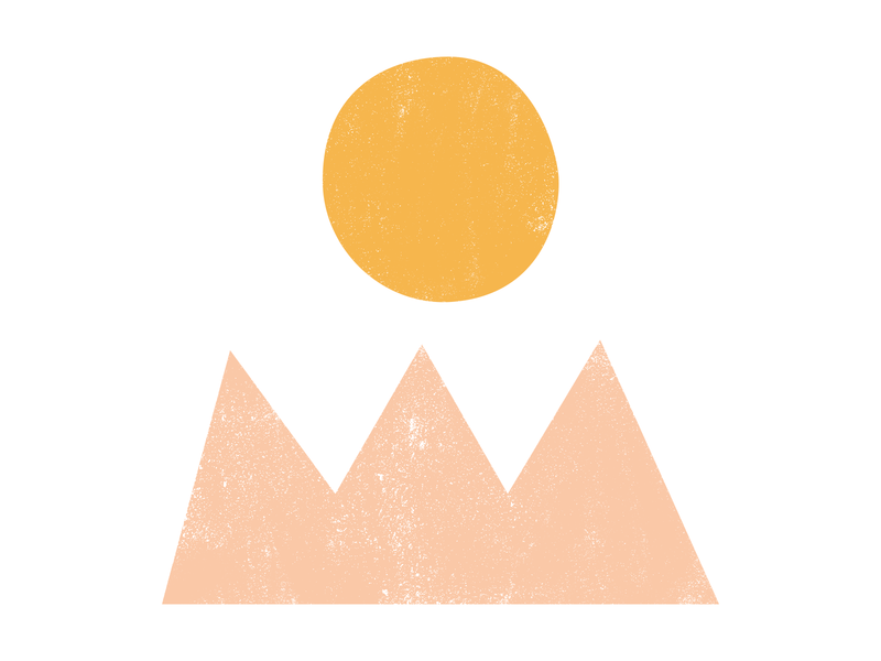Ojai free nature mountains illustrator invites stationery love desert california sunset sunrise ojai wedding design illustration