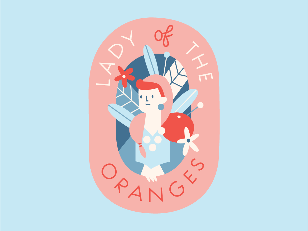 Back at the 100 day project this year visual design character illustrator design label female woman flowers california florida illustration citrus lady oranges