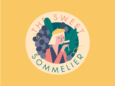 The Sweet Sommelier designer illustration illustrator women lady girl wine sommelier
